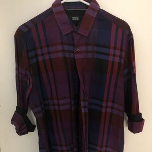 ALFANI regular fit button down shirt